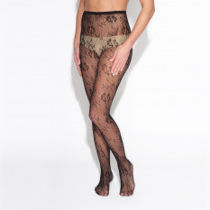 FLORAL FISHNET STOCKING
